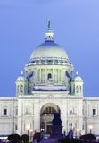 Entrance of Victoria Memorial hall at night stock image