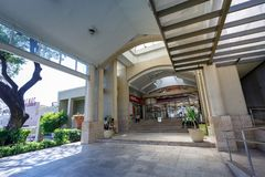 Entrance view of Alabang town center in Manila city. Manila, Philippines - Feb 24, 2018 : Entrance view of Alabang town center in Manila city Royalty Free Stock Photo