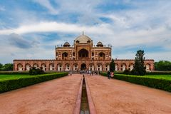 Entrance view of Humayun`s Tomb Stock Image