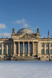 Entrance view of the Reichstag (Bundestag) building in Berlin, Ge Royalty Free Stock Images