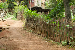 Entrance of village. Entrance of small village in Wenshan county Stock Photo