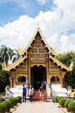 Entrance of Wat Phra Singh, in Chiang Mai, Thailand Stock Photos