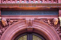 Entrance Way to Brooklyn Historical Society Stock Images