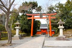 Entrance way to the temple Kyoto Royalty Free Stock Photos