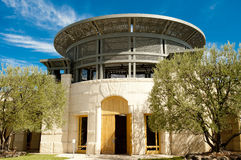Entrance of the winery Opus One in Nappa Valley. California, USA. Opus One is one of the famous wine makers in the world Royalty Free Stock Photo