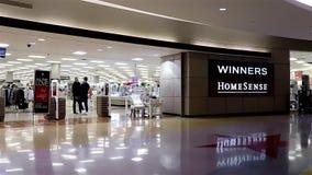 Entrance of Winners homesense store stock video footage