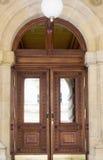 Entrance wooden door Stock Image
