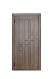 Entrance wooden door . Stock Photo