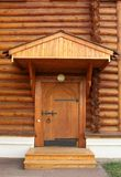 Entrance into a wooden house Royalty Free Stock Images
