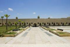 Entrance yard to the Citadel of Qaitbay Stock Photo