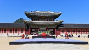 Entrance of 600-year old Gyeongbokgung Palace Stock Photo