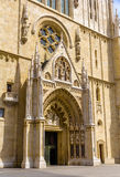 Entrance of Zagreb Cathedral Stock Photos