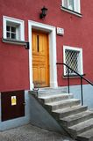 Entrance zone of a house. Doorway to a house in Poland, Europe Royalty Free Stock Image