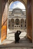 The entrances leading to the court of Suleymaniye Mosque. In Istanbul Turkey Royalty Free Stock Photos