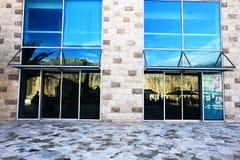 Entrances in modern buildings. Glass entrances in modern buildings Royalty Free Stock Photography