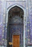 Entrances. Tile decorated doorway in the shakhizinda mausoleum complex in samarkand, uzbekistan royalty free stock photography