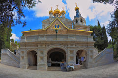 Entrances to the church. Mount of Olives in Jerusalem. One of the entrances to the church of St. Mary Magdalene royalty free stock photos