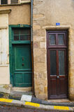 2 entrances. Two entrances in old houses in europe royalty free stock photo