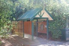 Entranceway at Ballarat Botanic Gardens. Wood entranceway in the Ballarat Botanic Gardens Royalty Free Stock Photo