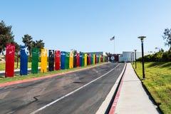Entranceway till CV-elitidrottsman nen Training Center Royaltyfria Foton