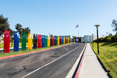 Entranceway to CV Elite Athlete Training Center. CHULA VISTA, CALIFORNIA - AUGUST 26, 2017:  Entranceway to the Chula Vista Elite Athlete Training Center, a Royalty Free Stock Photos