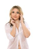 Entrancing young blond lady Royalty Free Stock Photos