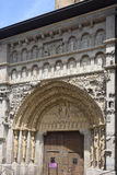 Entrande door of Santa Maria la Real, Sanguesa, Royalty Free Stock Photos