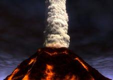 Entrando em erupção o vulcão