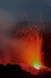 Entrando em erupção Stromboli de Pizzo Fotos de Stock Royalty Free