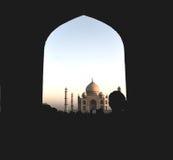 Entrando tramite il portone a Taj Mahal, Agra, India Fotografia Stock Libera da Diritti