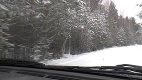 Entraînement d'hiver - route d'hiver banque de vidéos