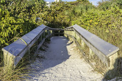 Entrannce to the beach Stock Photography