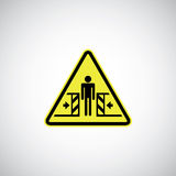 Entrapment risk sign Royalty Free Stock Images