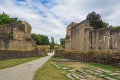 Entrare in anfiteatro romano immagini stock