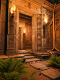 Entrata ad un tempio Fotografia Stock