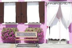 Entrata ad una casa in Burano Immagine Stock