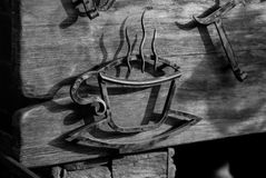 Entrata al caffè Immagine Stock