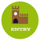 Entrata al castello Immagine Stock Libera da Diritti