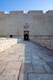 Entrata al castello di Barletta Fotografia Stock