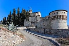 Entrata al castello di Brescia immagine stock libera da diritti