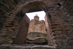 Entrata al castello di Gremi in Kakheti Fotografia Stock
