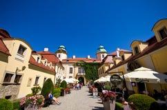 Entrata al castello di Ksiaz, Polonia Fotografia Stock Libera da Diritti