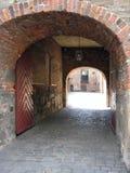 Entrata al castello a Oslo Fotografia Stock
