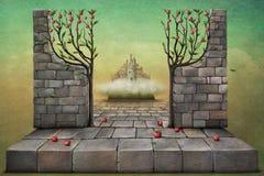 Entrata al giardino illustrazione di stock