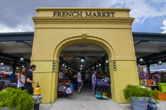 Entrata al mercato francese fotografia stock