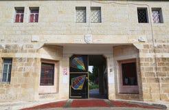 Entrata al monastero dei monaci silenziosi a Latrun immagini stock