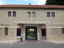 Entrata al monastero del trappista di Latrun Fotografia Stock