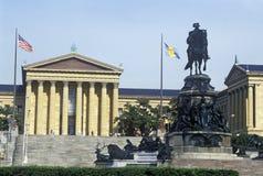 Entrata al museo di arte di Filadelfia, Filadelfia, PA Fotografie Stock