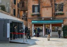 Entrata al museo ebreo di Venezia nel ghetto ebreo del ` s di Venezia immagine stock libera da diritti