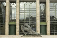 Entrata al Neu Pinakothek a Monaco di Baviera, Germania fotografia stock